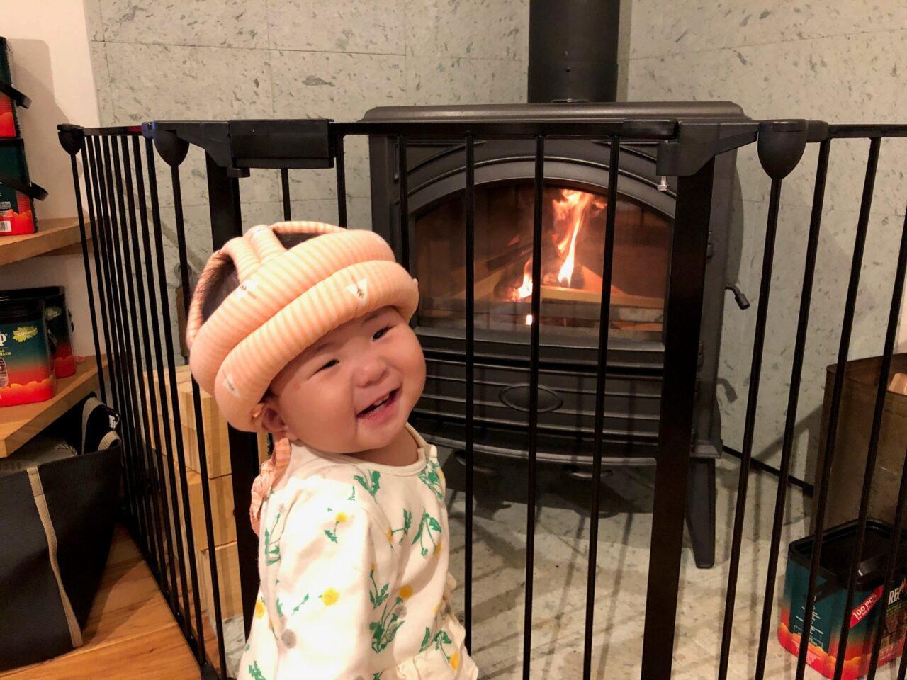 薪ストーブ 赤ちゃん