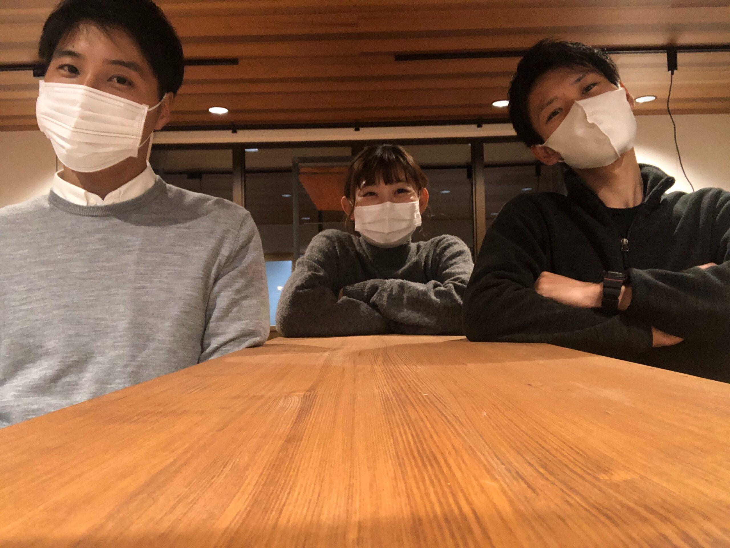 宿泊体験 企画運営スタッフの芥川さん、手島さん、内田さん