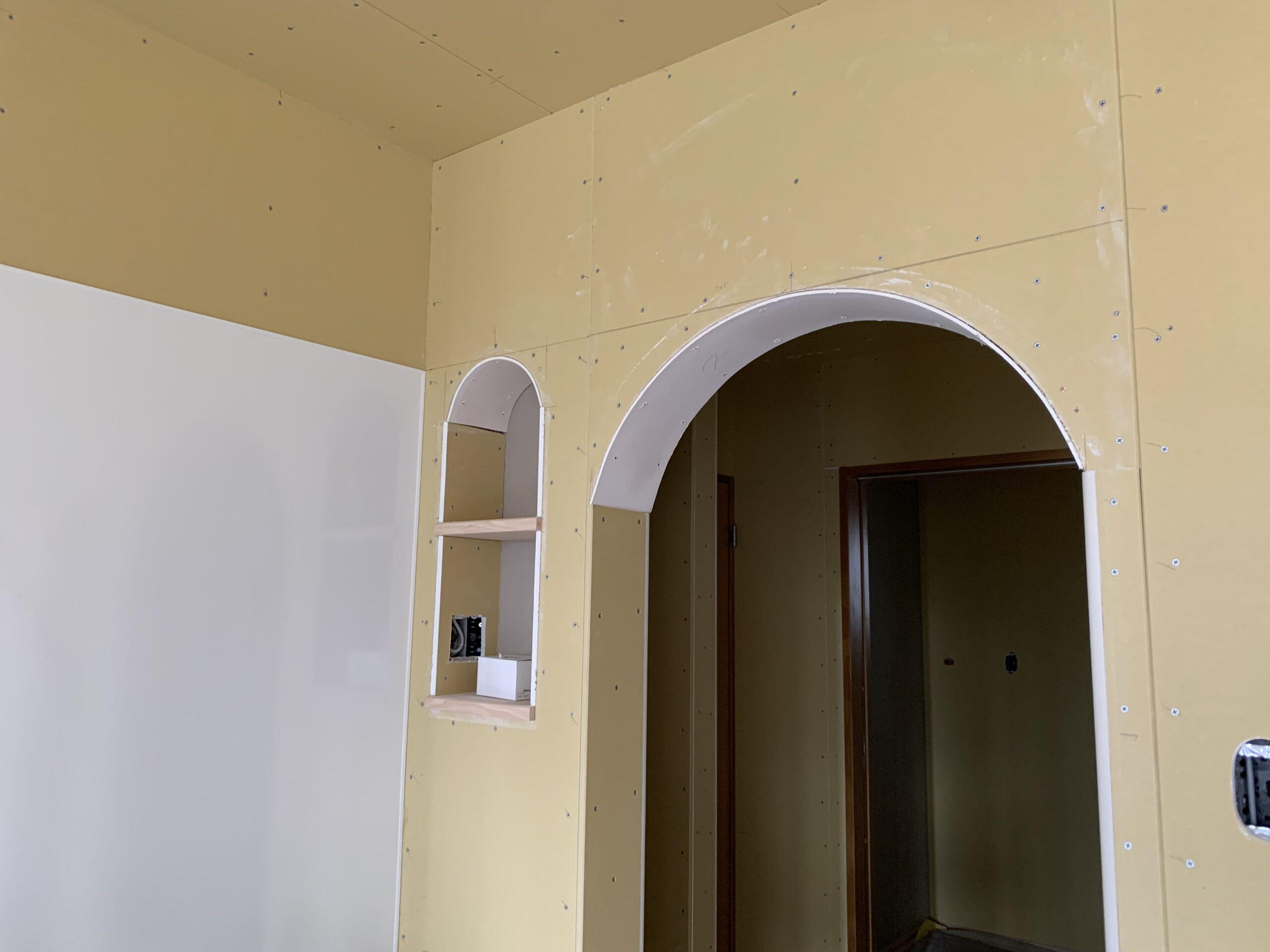 R垂れ壁工事現場