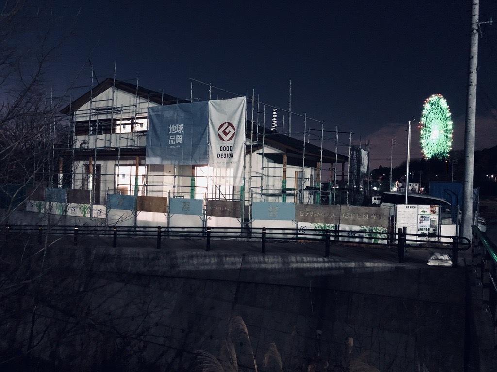 モデルハウス夜景
