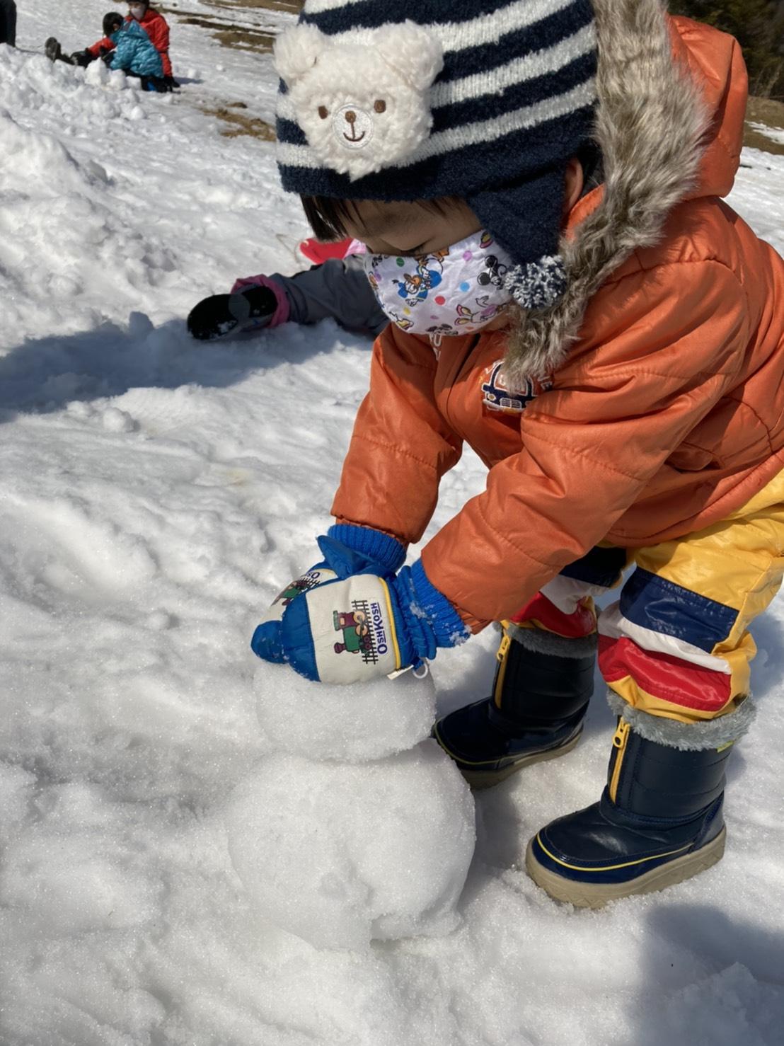 雪を体験する