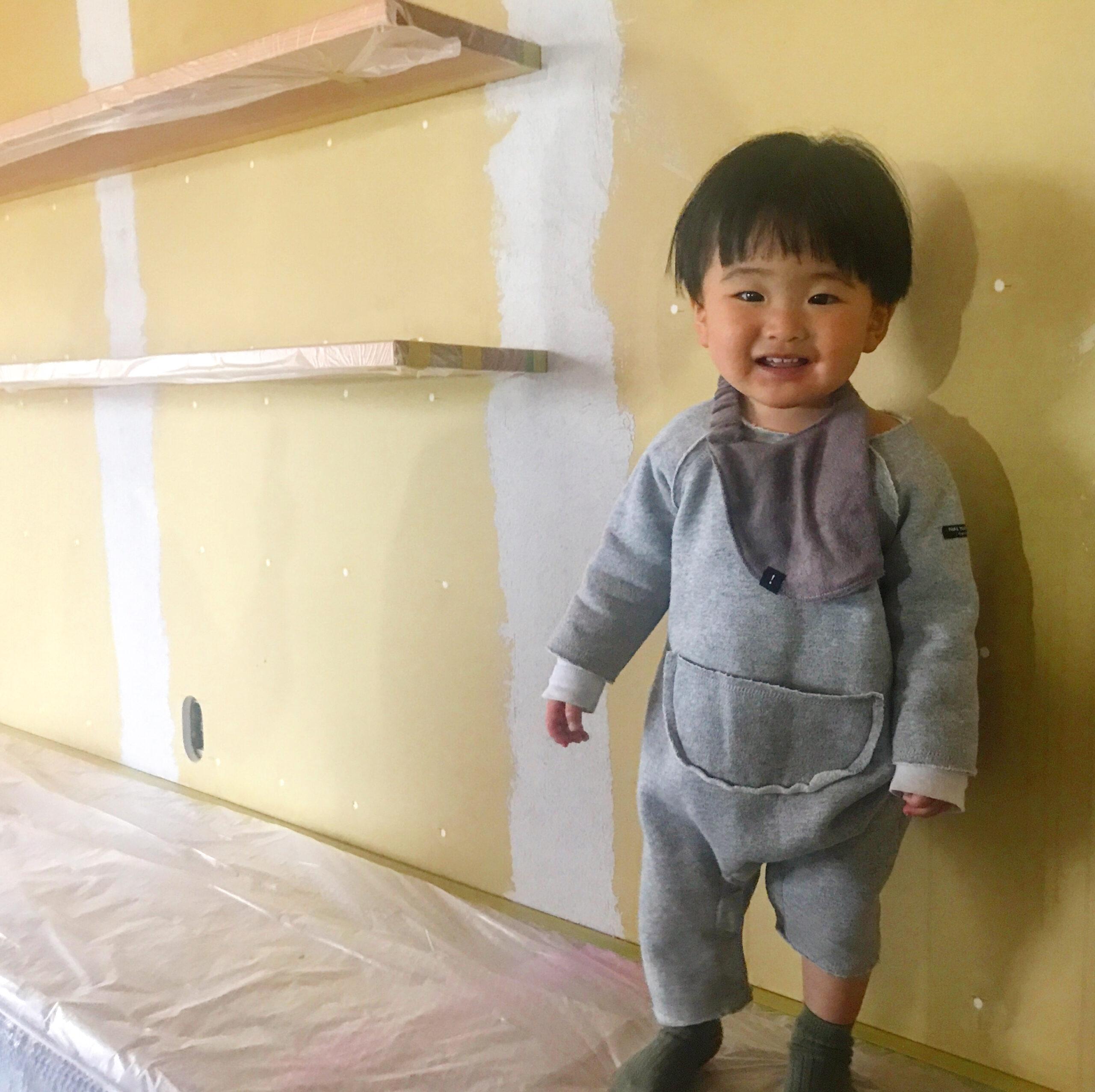塗り壁が始まりました!