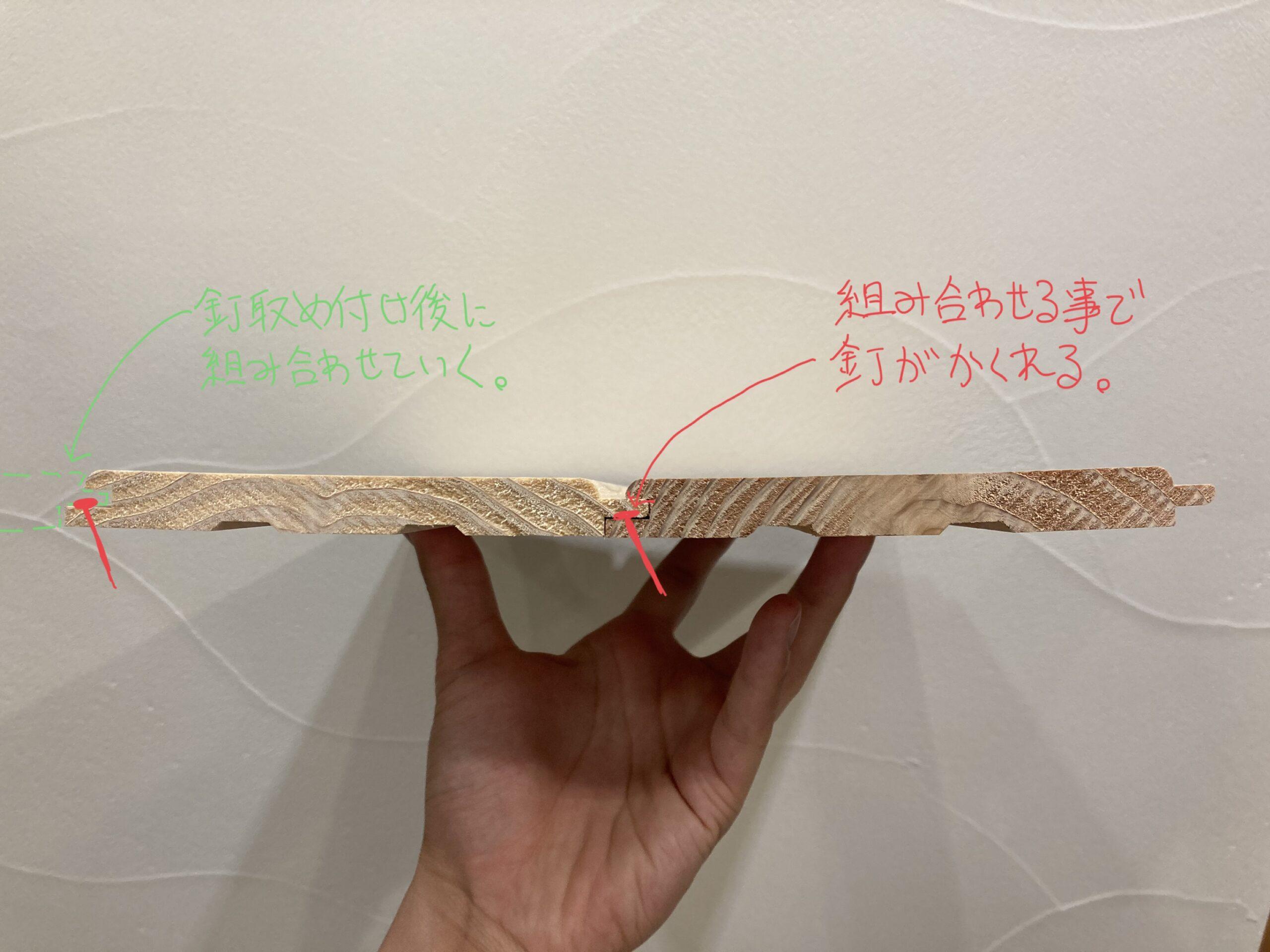 羽目板の施工方法