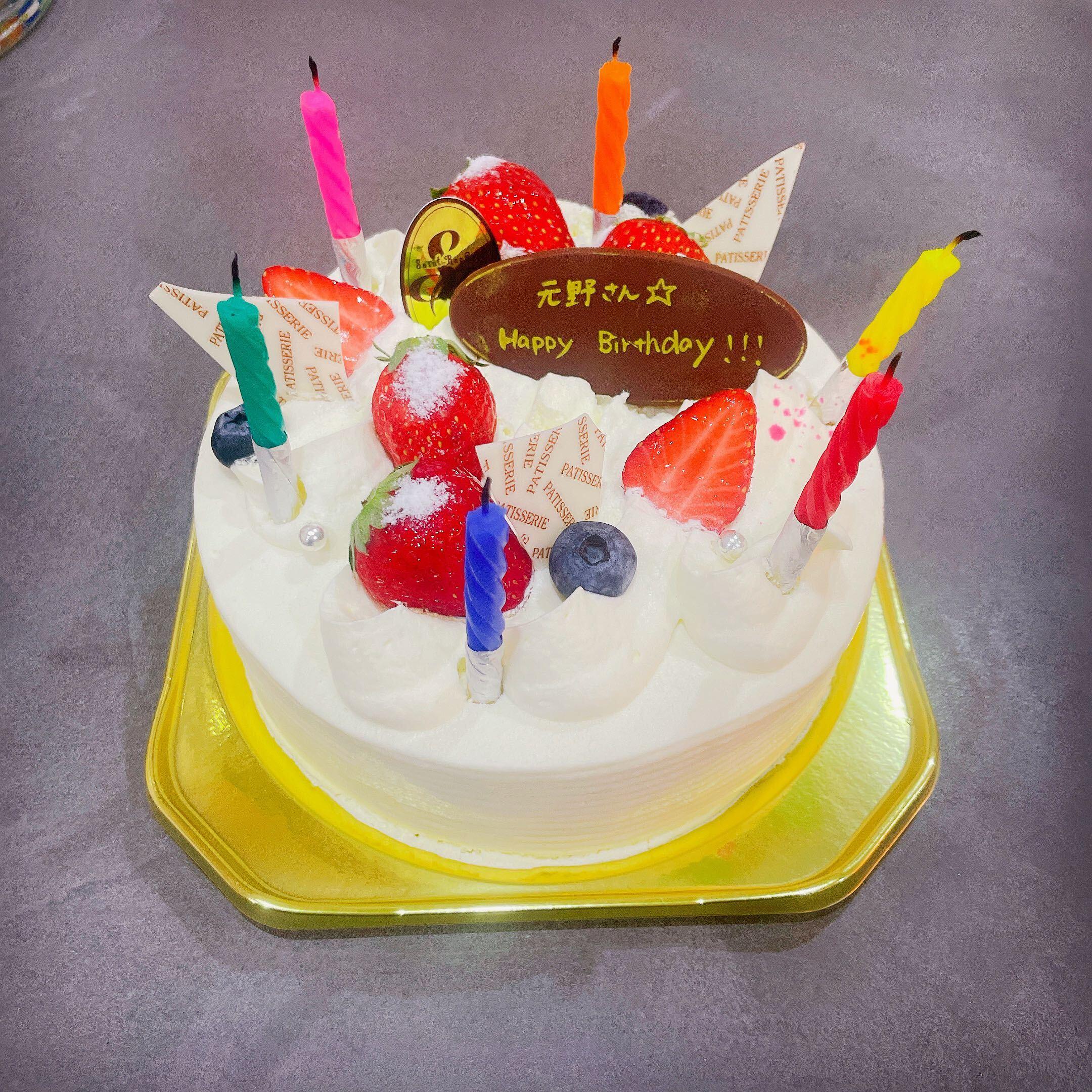 誕生日ケーキのサプライズの様子