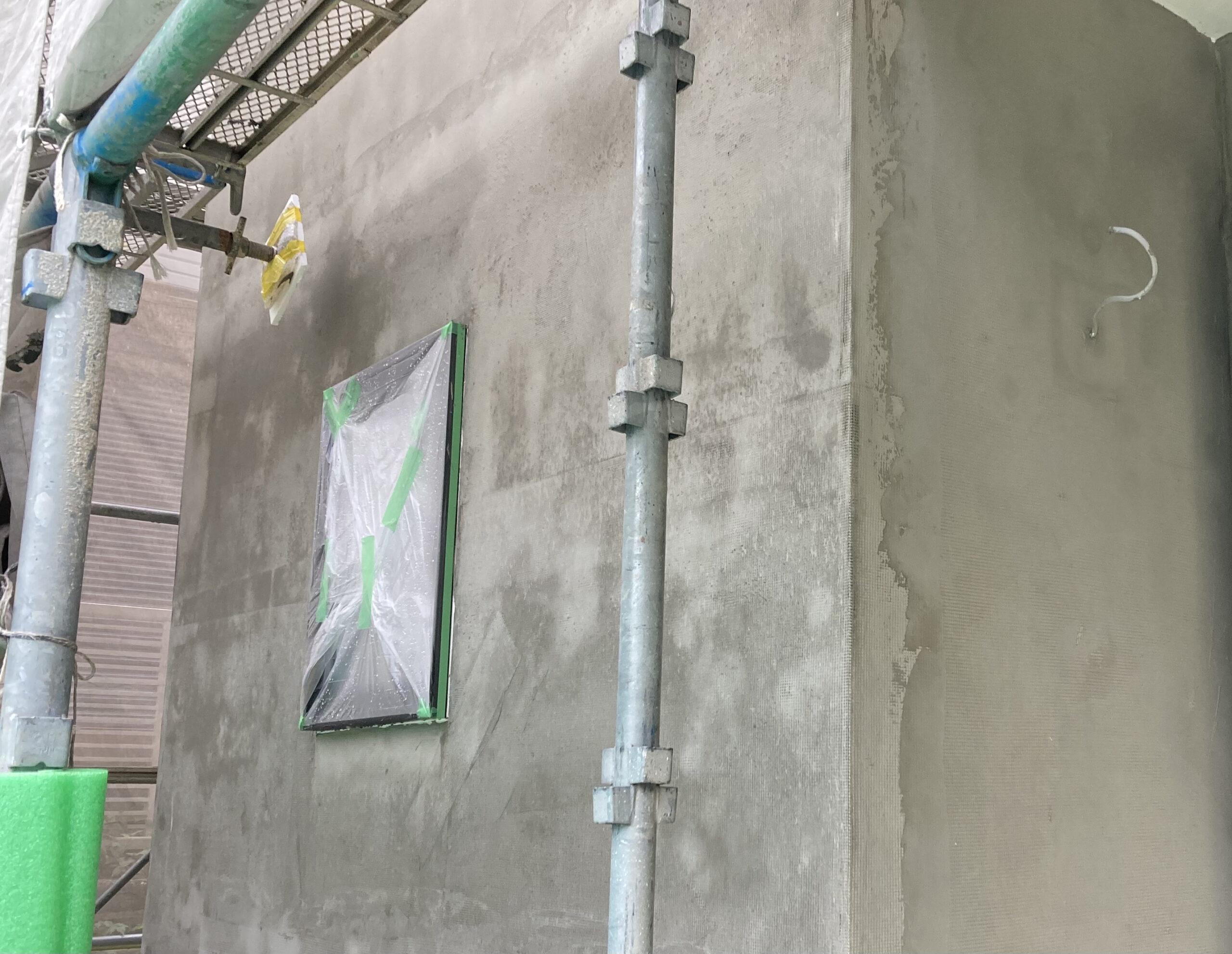 左官前の外壁の状態