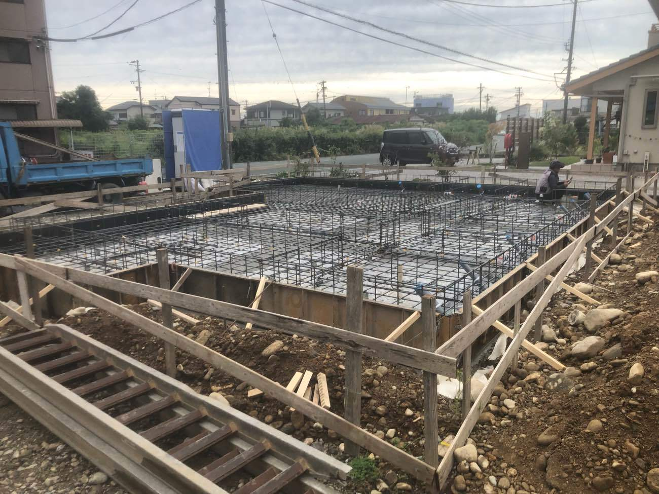 新築 基礎工事 配筋検査